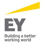"Ernst Young logo and strap line ""Building a better working world"""