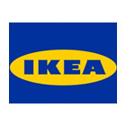 IKEA logo Blue font on yellow oval