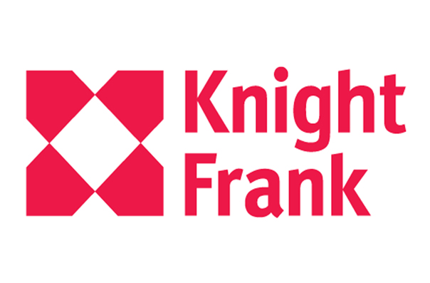 Knight Frank logo red on white