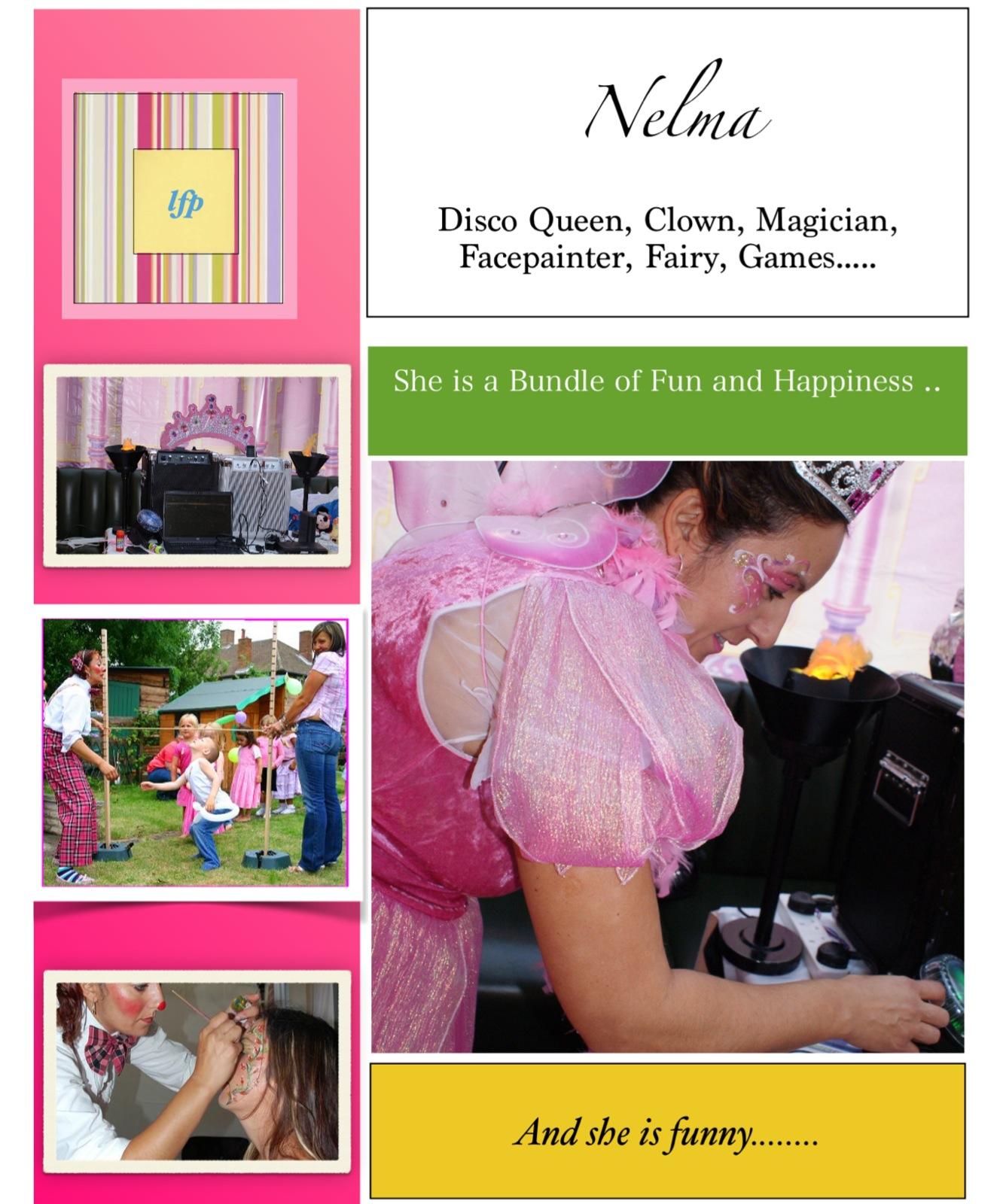 Nelma, children's party entertainer.