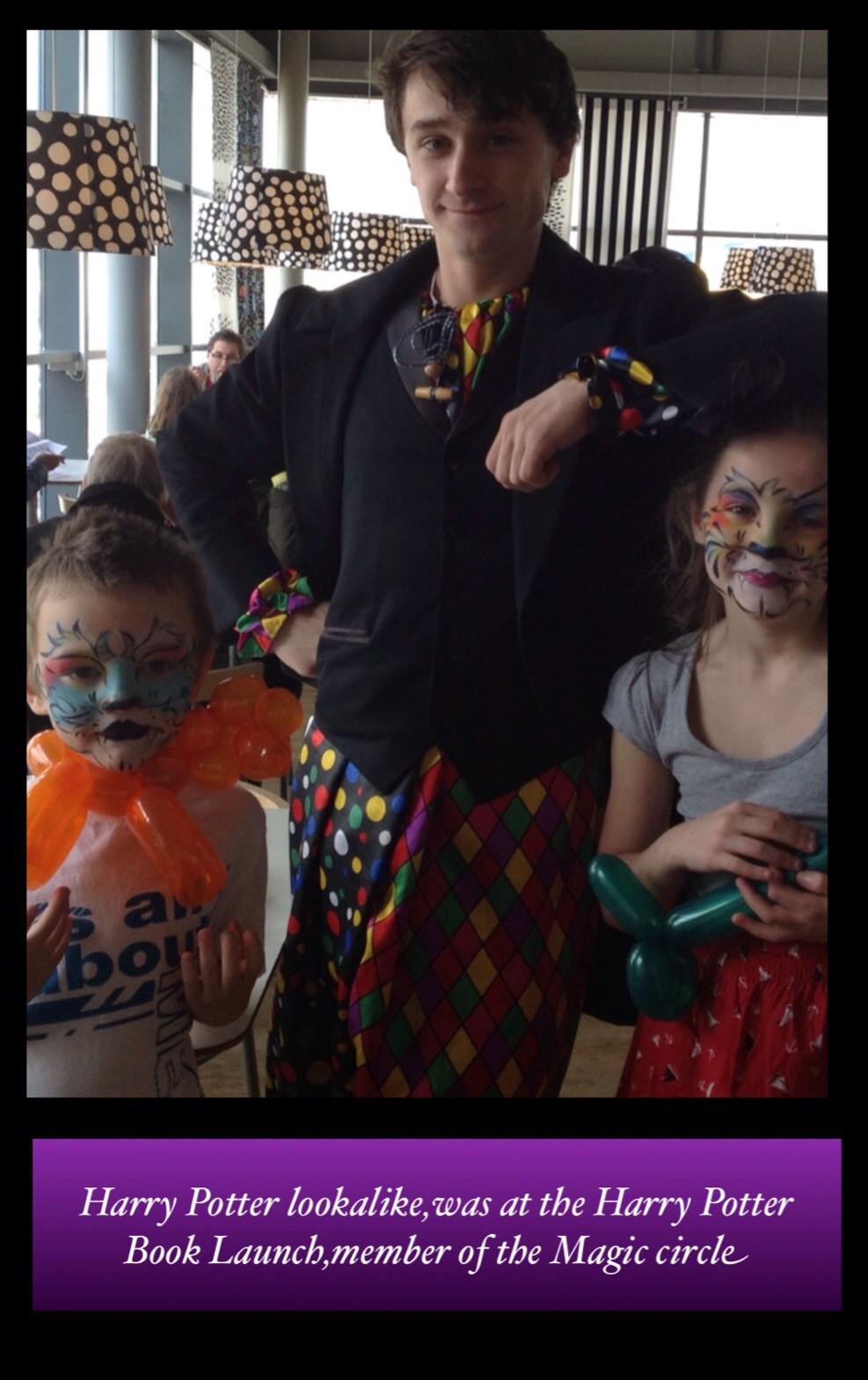 London Face Painters can supply other children's entertainers for your children's party, here is our Harry Potter look alike and magician Children's Entertainer