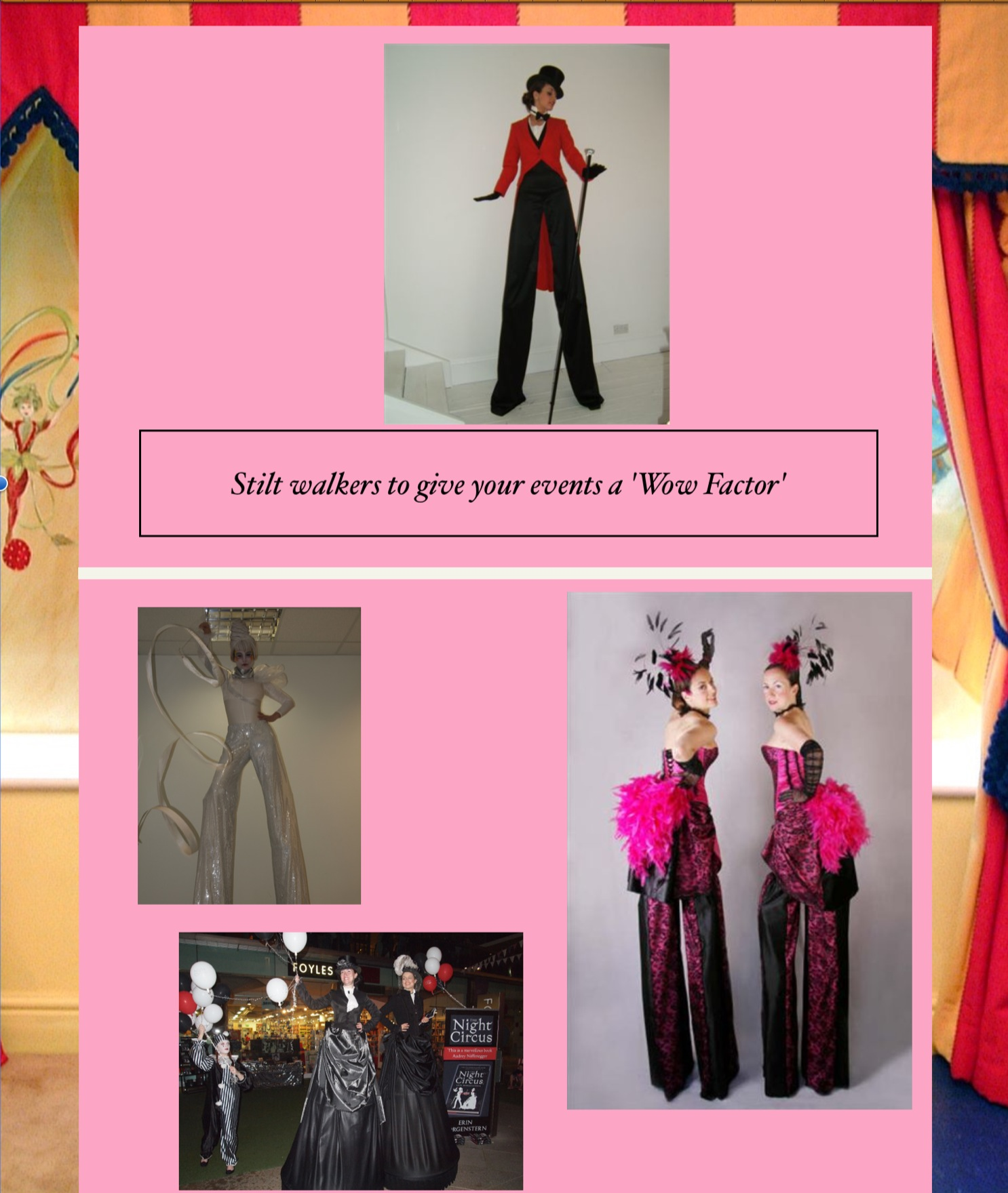 Stilt walkers to give your event the 'Wow Factor'