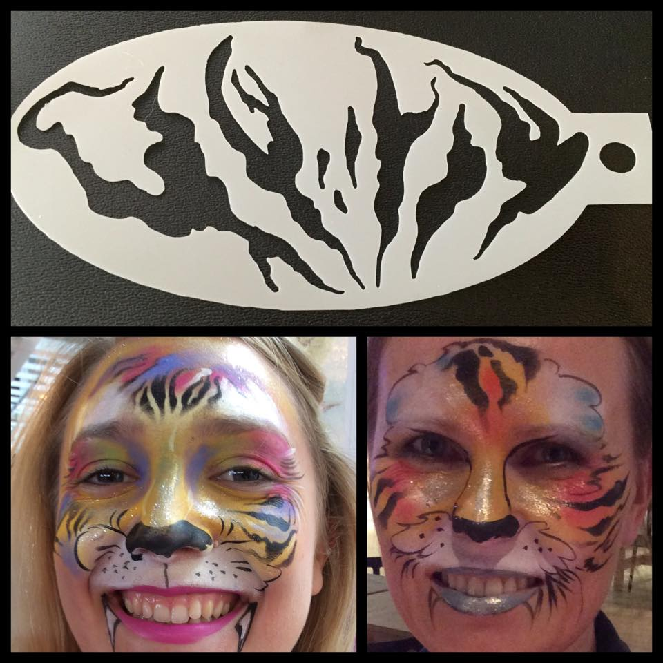 Tiger Stripes Stencil By London Face Painters